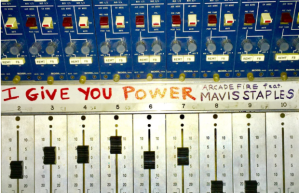 arcade fire mavis staples i give you power